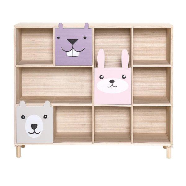 Boekenkast met laden Roze