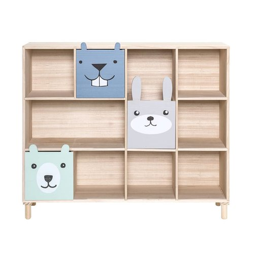 Bloomingville Mini Bookcase w/Drawers Blue