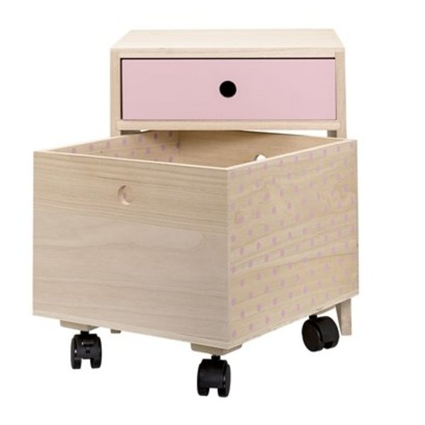 Bloomingville bedside table rose leaves and feathers bedside table rose watchthetrailerfo