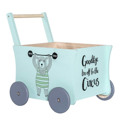 Bloomingville Mini Circus Loopwagen Groen