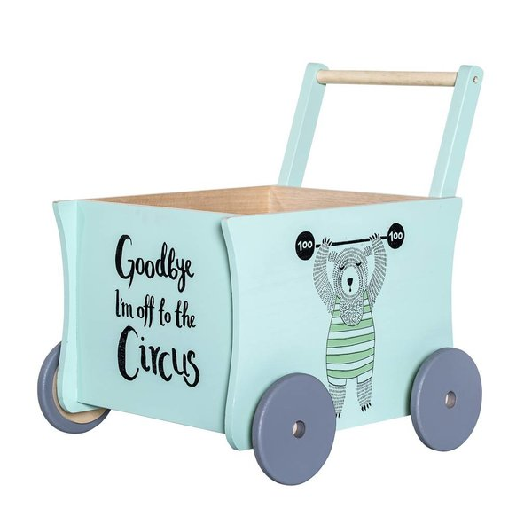Circus Push Wagon Green