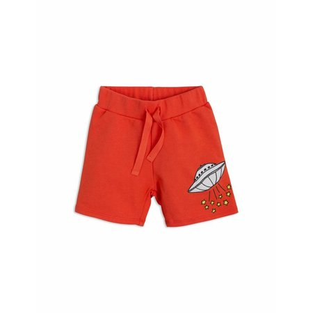 Mini Rodini Korte broek - UFO Sweatshorts red