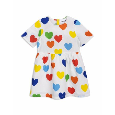 Mini Rodini Jurk - Rainbow Love Woven Dress