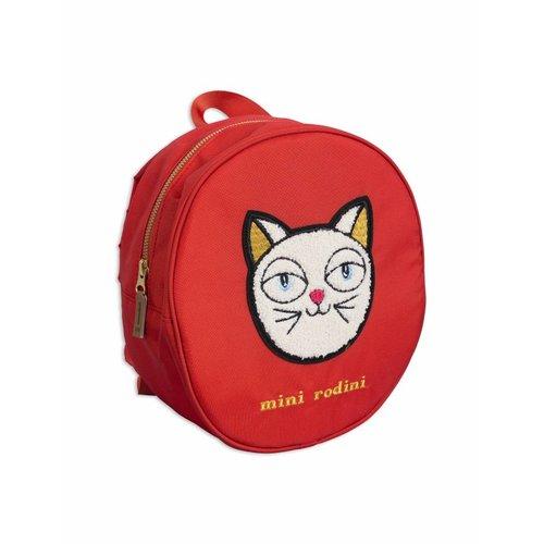 Mini Rodini Cat Backpack Red