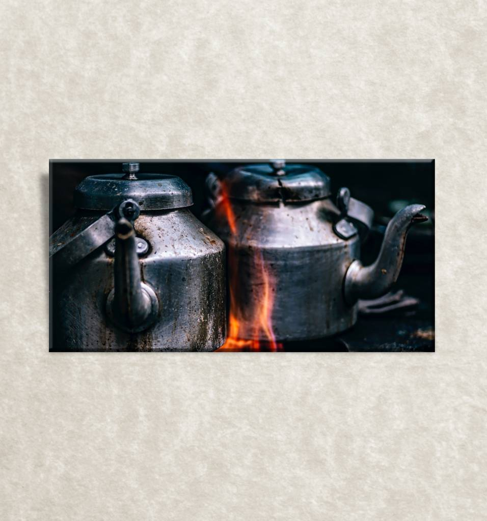 Canvas poster Iron-heater