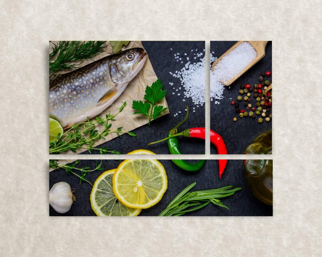 Foto op canvas Fish & Lemon