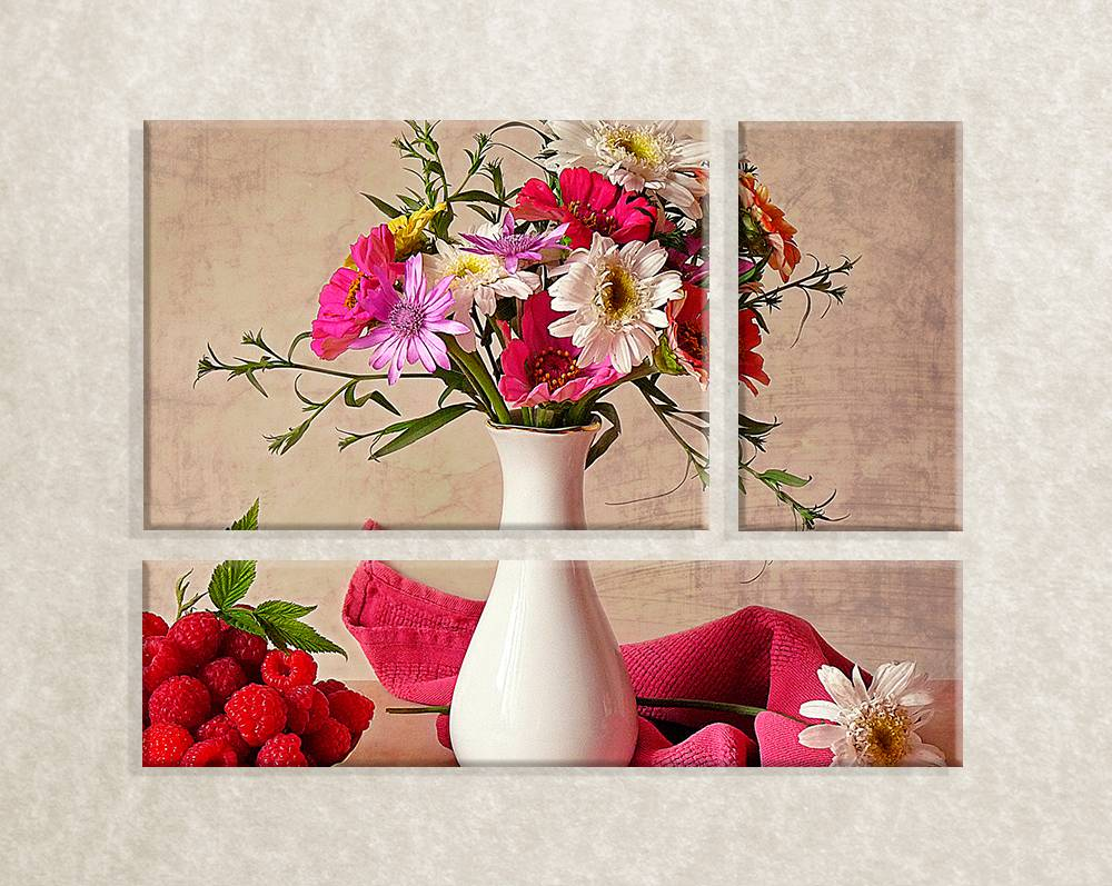 Canvas foto Vase with flowers