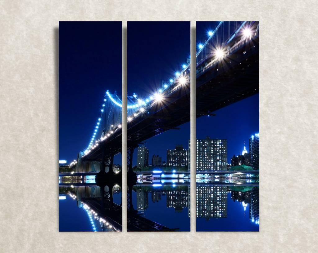 Canvas foto Night bridge