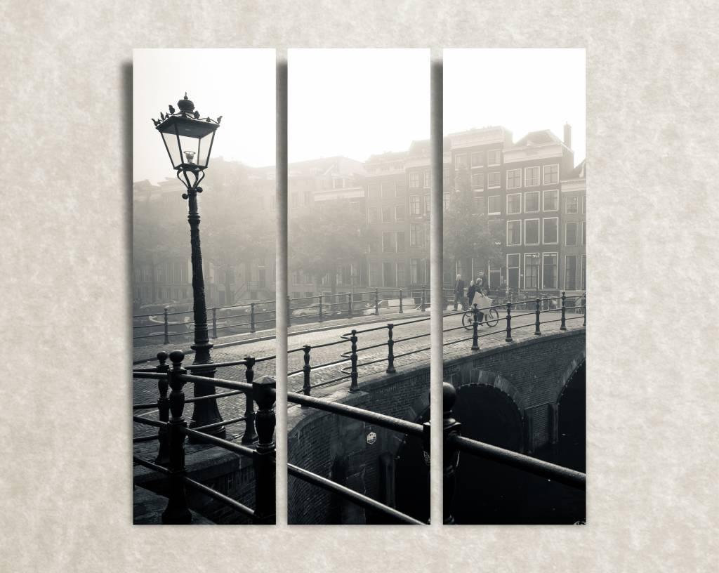 Canvas foto On the bridge