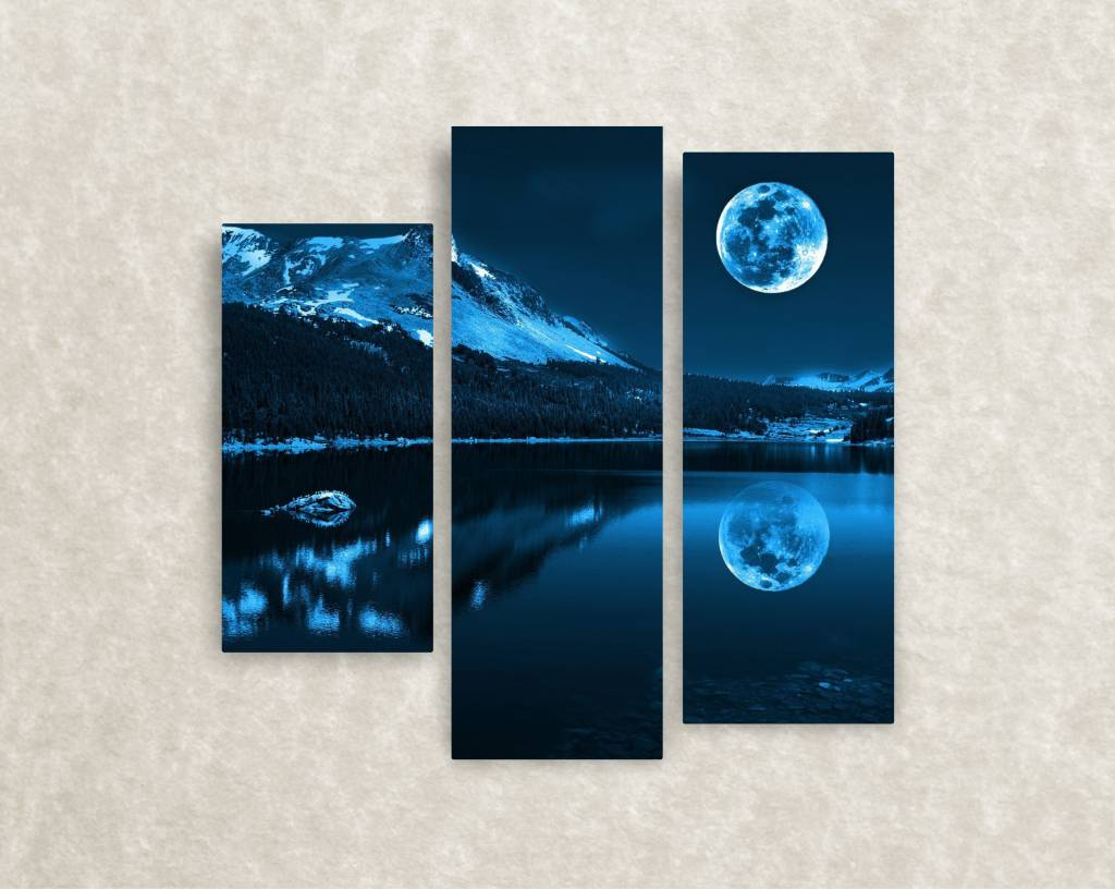 Canvas foto Winter moon