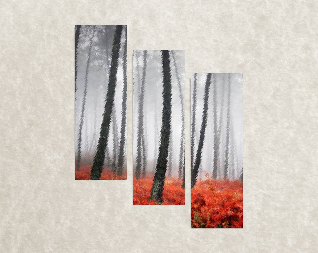 Canvas poster Red forest