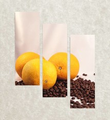 Coffee with orange flavor