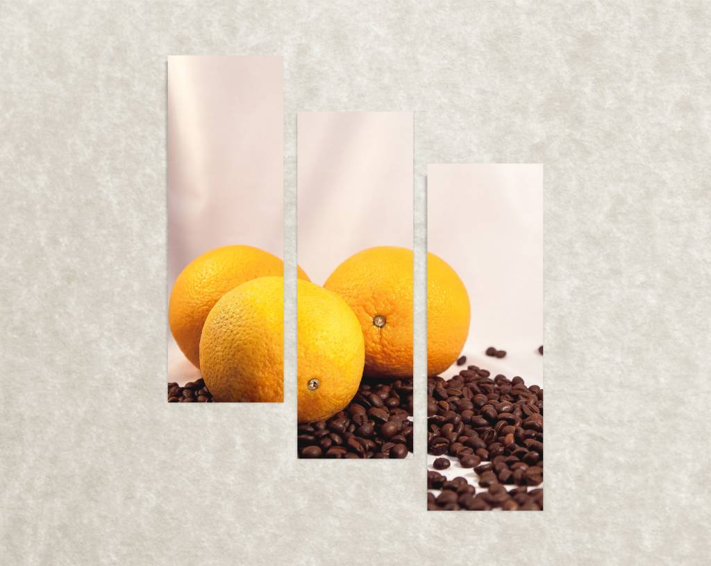 Canvas print Coffee with orange flavor