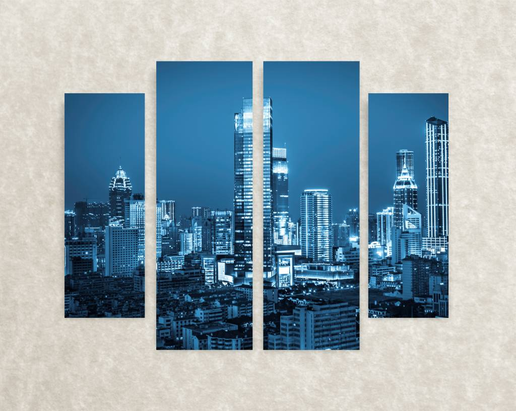 Canvas poster The city at night