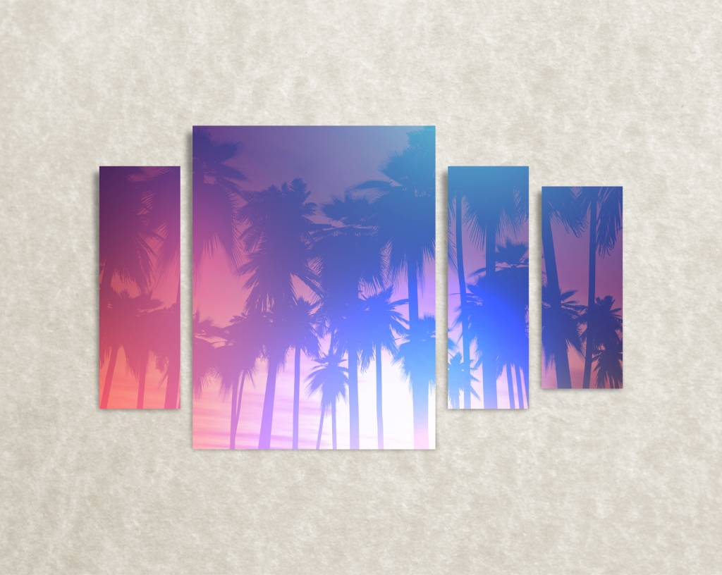 Canvas poster Palm trees