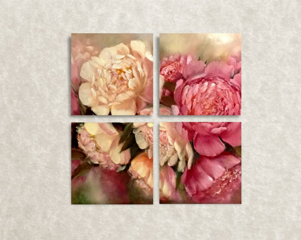 Canvas foto Peonies