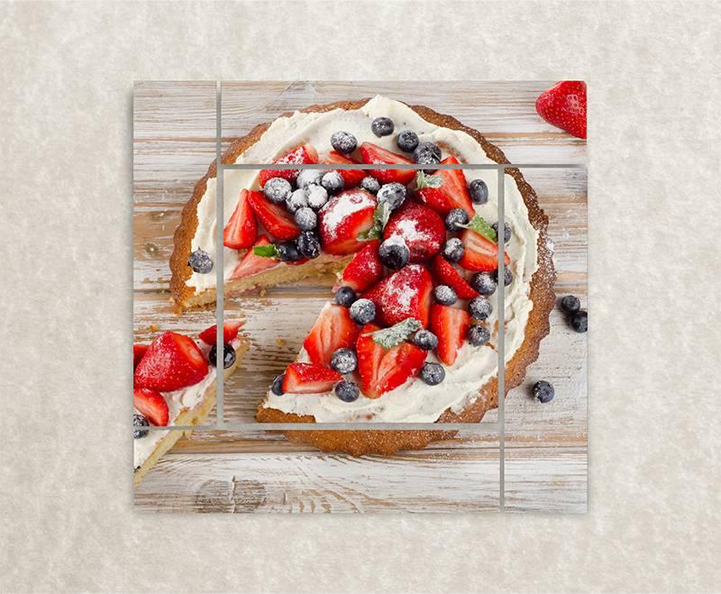 Canvas foto Cake Berry
