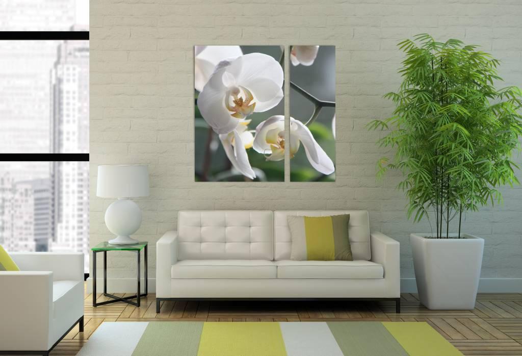 Foto van bloemen op canvas voor wanddeko decoratie poliptix - Foto van decoratie interieur ...