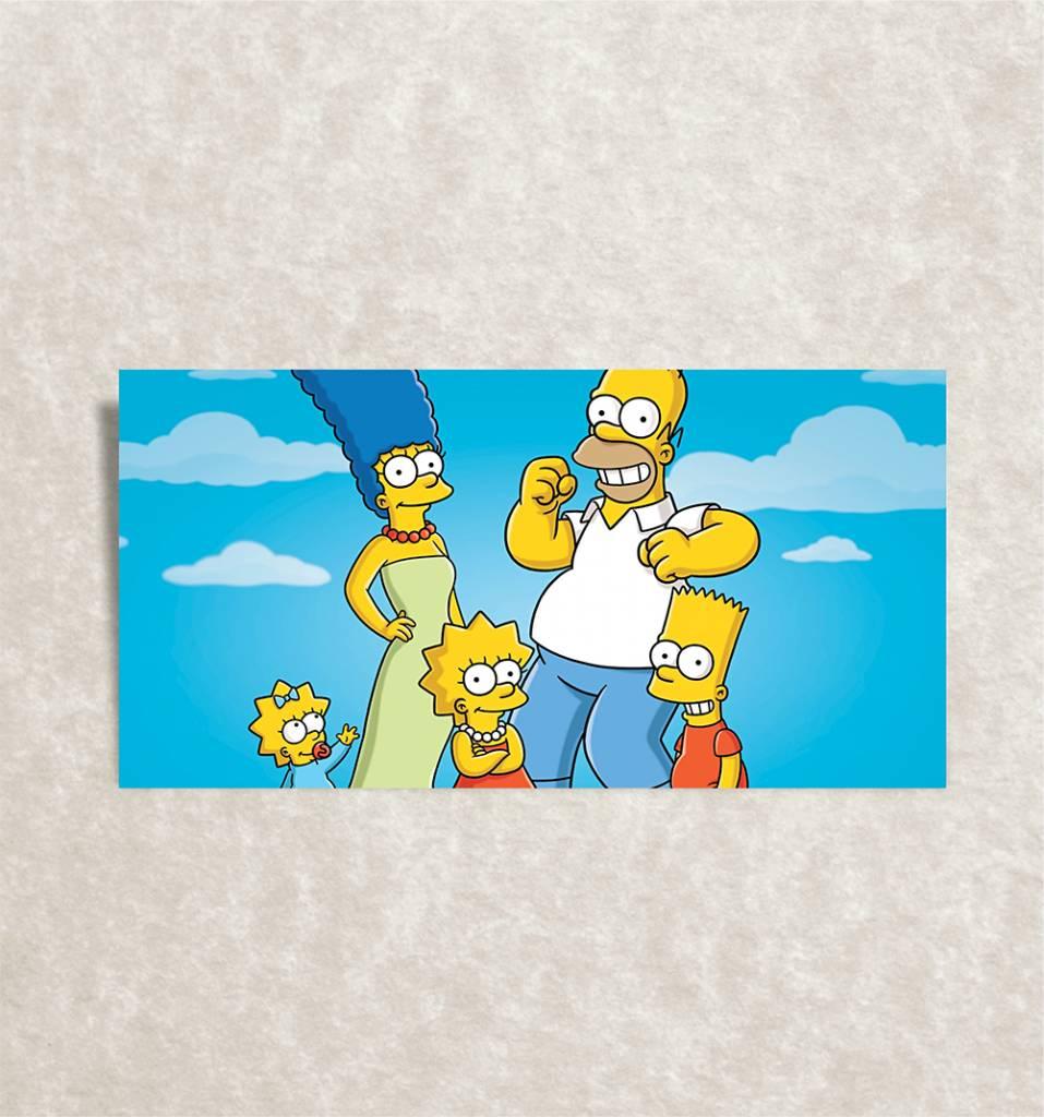 Canvas foto van Simpsons