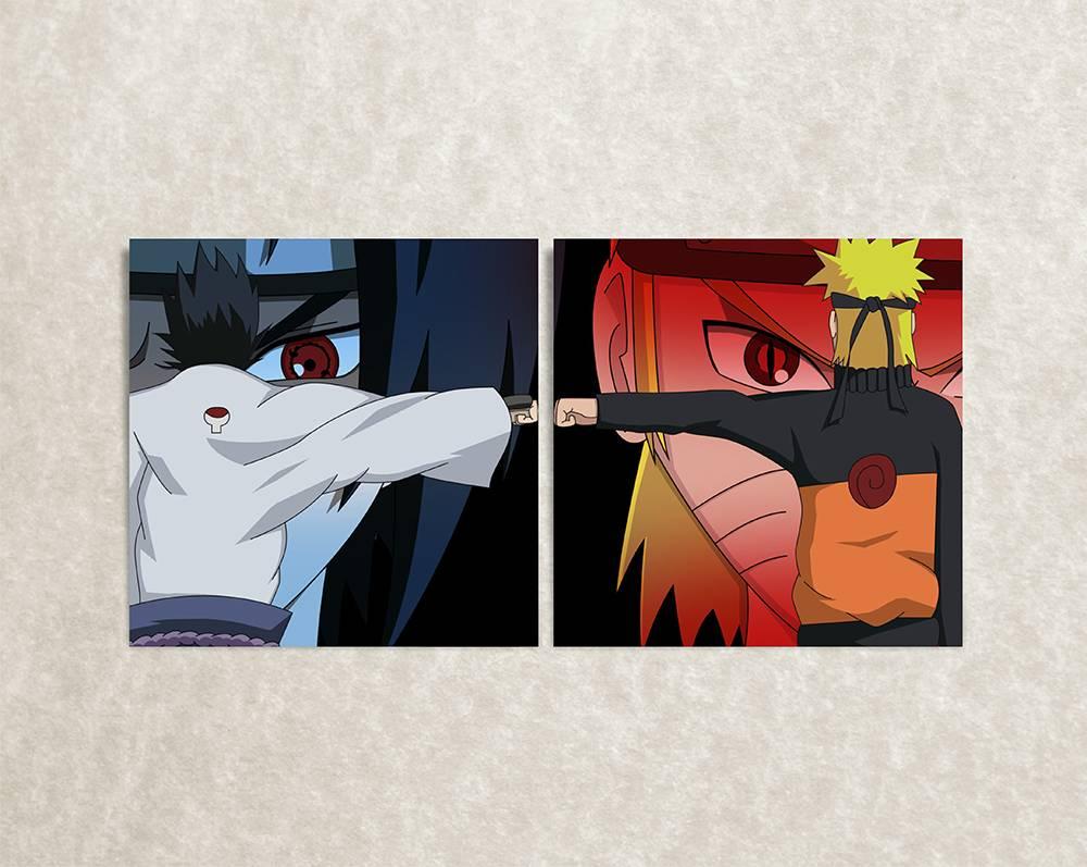 Poster van Naruto & Saske