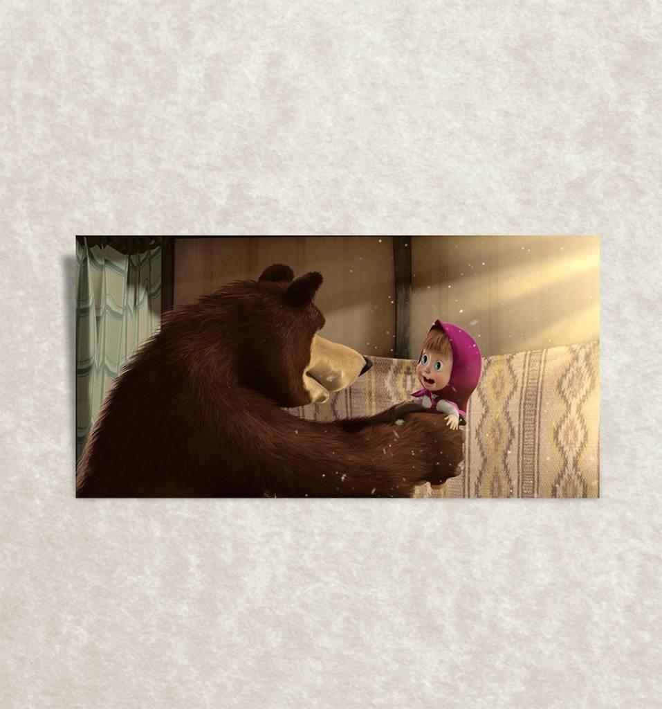 Canvas print van Masha en de Beer