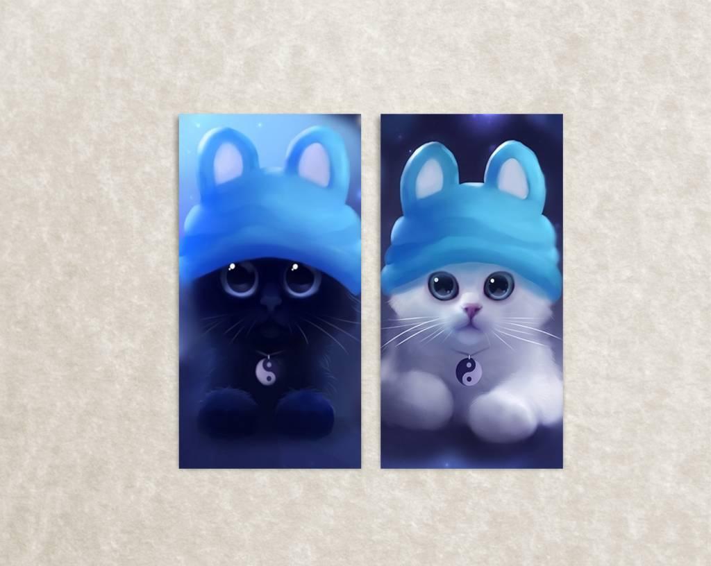 Canvas poster van katjes