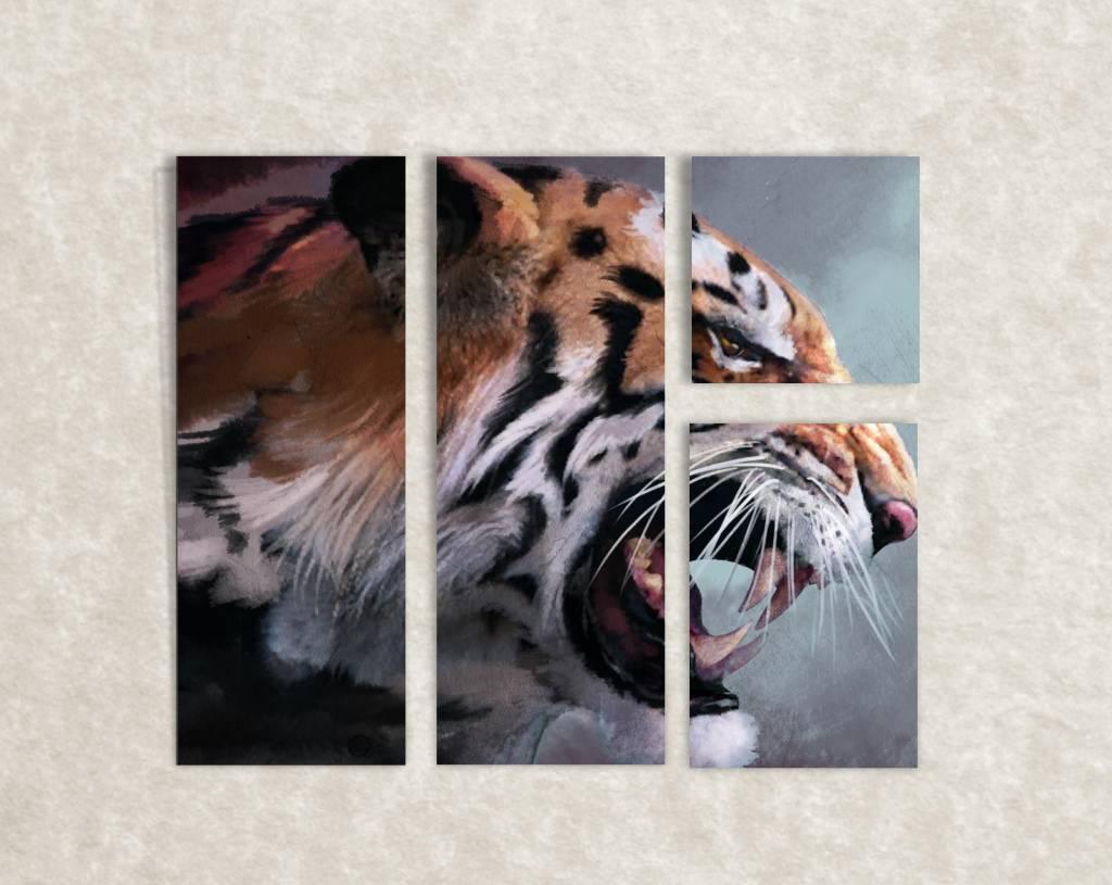 Canvas foto van een tijger