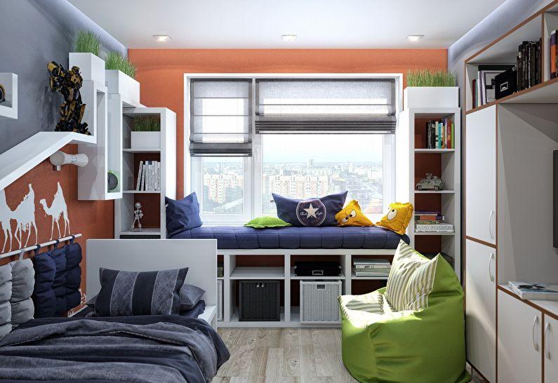 Hoe creëer je ruimte in een klein huis - kinderkamer decoratie