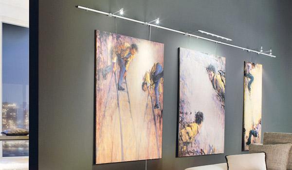 Verlichting van kunstwerk, zoals canvas schilderijen