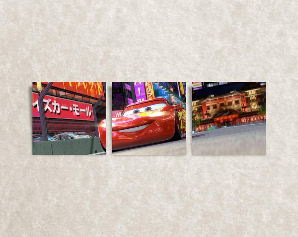 Trendy canvas posters voor kinderkamer - Cars