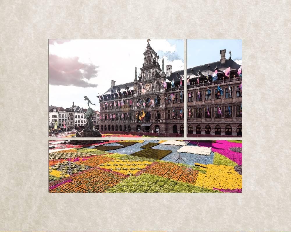Je favoriete stad op canvas - Antwerpen