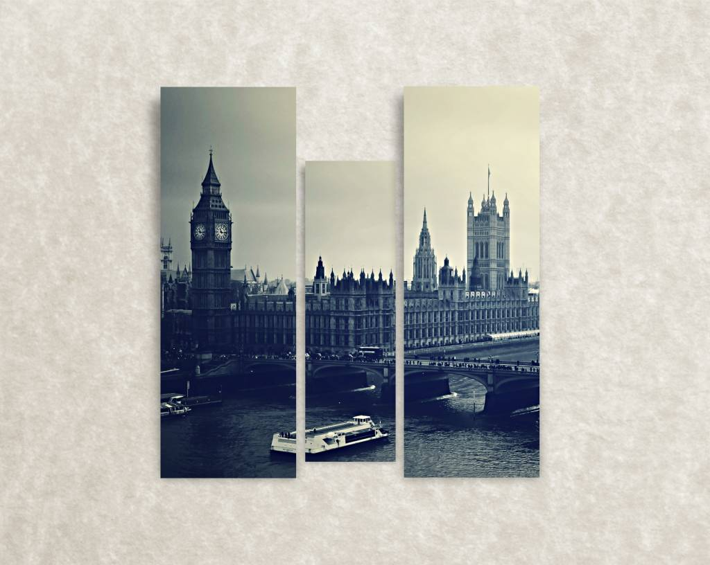 Je favoriete stad op canvas - Londen