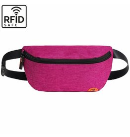 """Quokks Stylische, hochwertige RFID Blocker Bauchtasche - Gürteltasche """"Melbourne"""" in pink"""