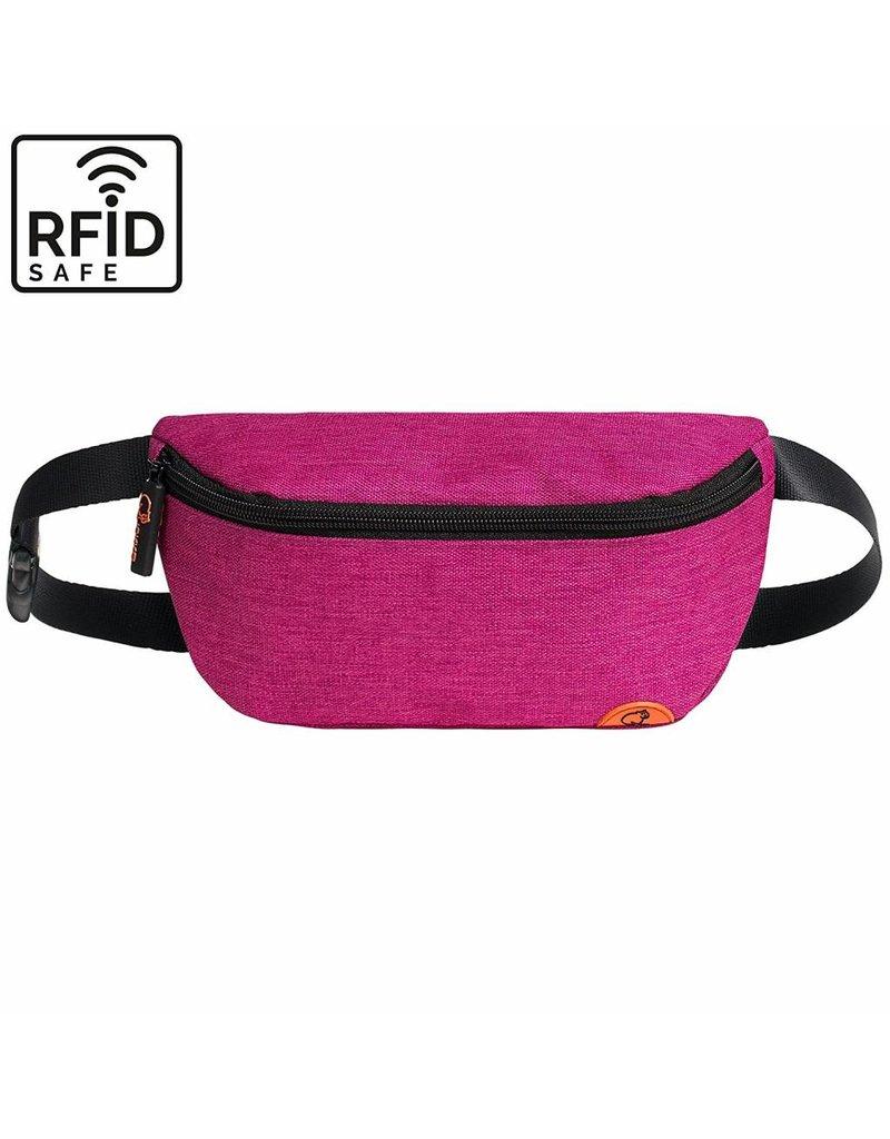 """Stylische, hochwertige RFID Blocker Bauchtasche - Gürteltasche """"Melbourne"""" in pink"""