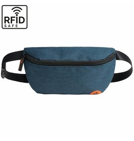 """Quokks Stylische, hochwertige RFID Blocker Bauchtasche  - Gürteltasche """"Melbourne"""" in blau"""