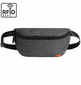 """Quokks Stylische, hochwertige RFID Blocker Bauchtasche  - Gürteltasche """"Melbourne"""" in anthrazit grau"""