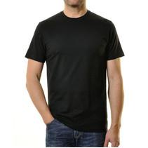 2 mal T- Shirt Rundhals schwarz