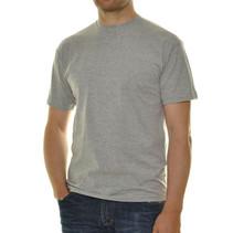 2 mal T- Shirt Rundhals grau