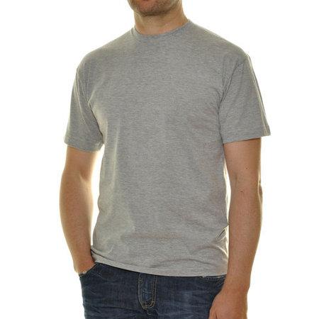 RAGMAN 2 mal T- Shirt Rundhals grau