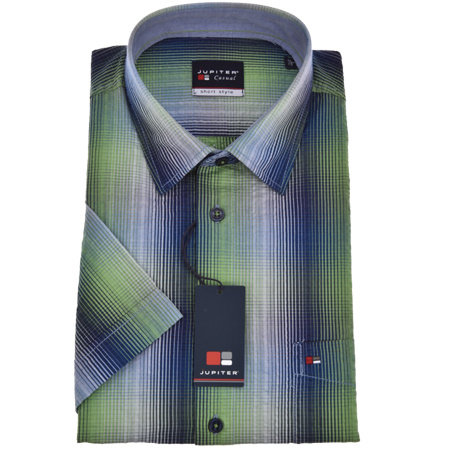 JUPITER HEMDEN Hemd kurzarm | 100% Baumwolle | kürzer geschnitten