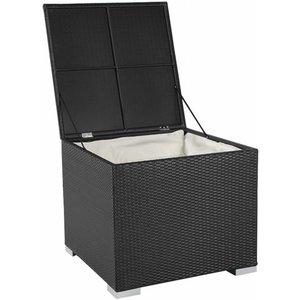Kussen box II   95 x 95 x 80cm - Zwart - Plat vlechtwerk