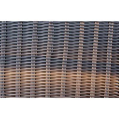 Tuintafel Athene XL - Bruin - Rond vlechtwerk