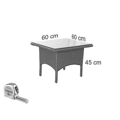 Bijzet tafel Riga - Cappuccino - Plat vlechtwerk