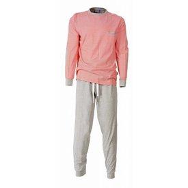 M.E.Q Heren pyjama MEPYH1406B-Oranje-V4