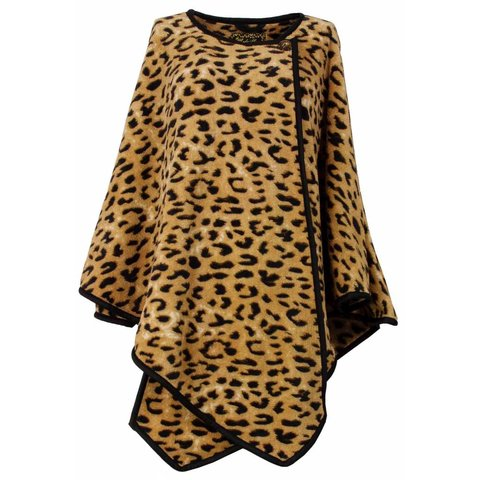 Medaillon Dames Poncho Tijger maat One Size