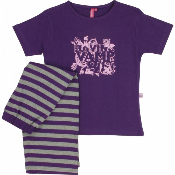Annarebella Meisjes pyjama ANPYM1006-Paars