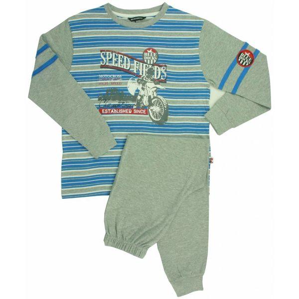 Blue Docks Jongens pyjama BDPYJ1301A-Grijs-blauw