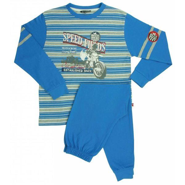Blue Docks Jongens pyjama BDPYJ1301B-Blauw-grijs