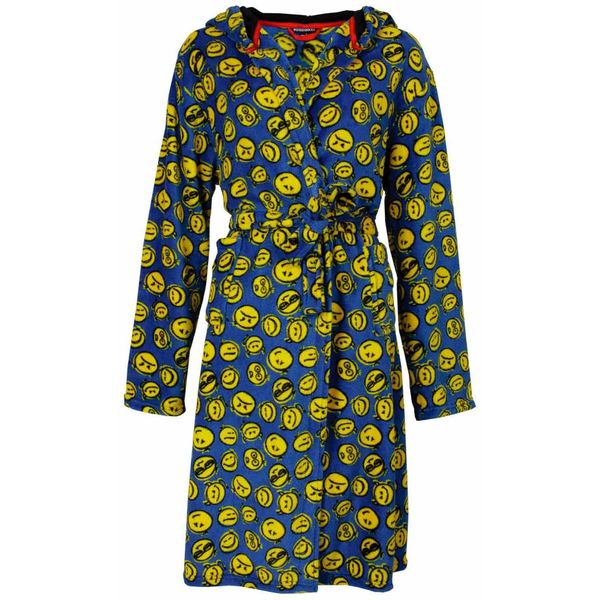Blue Docks Jongens badjas BDBRJ2405B-Smiley Print