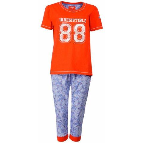 Dames pyjama IRPYD1501A-Oranje-RM